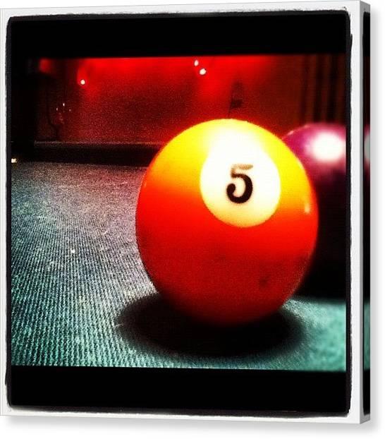 Thanksgiving Canvas Print - Playing Pool :) by 🎾joanne Walczynski