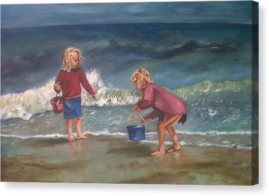 Playtime At The Beach Canvas Print by Elani Van der Merwe
