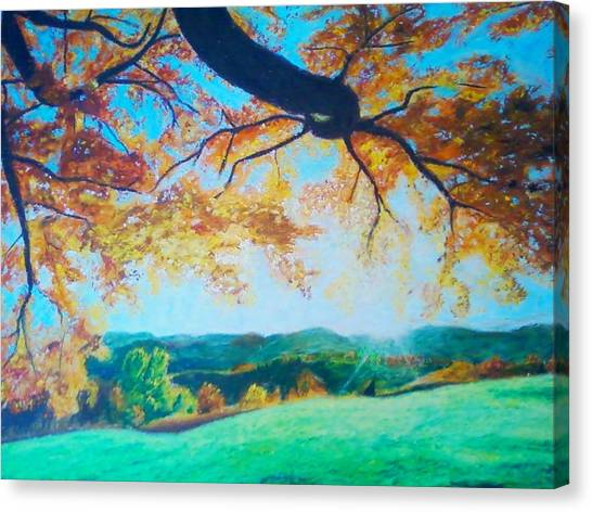 Pleasant Valley In Fall Canvas Print by Samuel McMullen