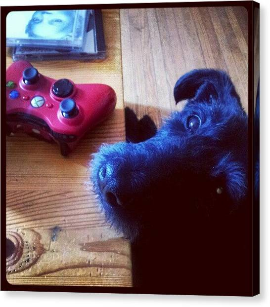 Xbox Canvas Print - Please Mommy Can I Play Mw2? Ive Been A by Tara Hebbes