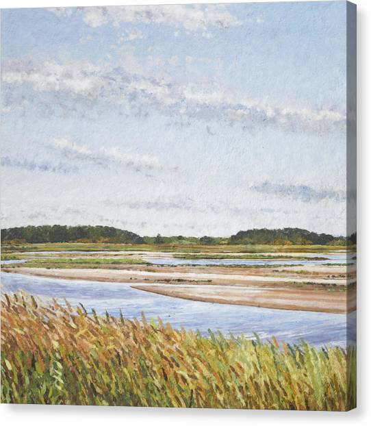 Plum Island Morning Canvas Print by Meg Black