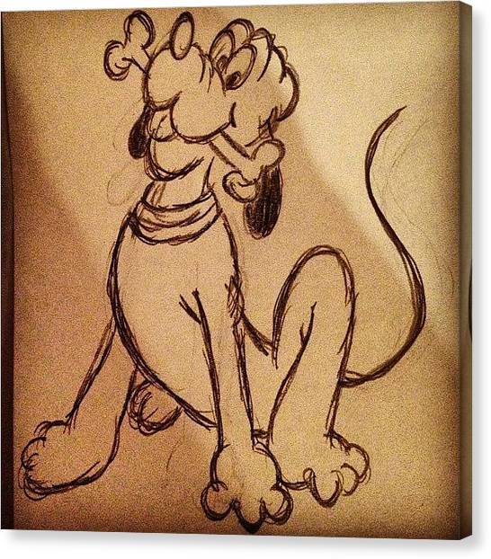 Pencils Canvas Print - Pluto😄🐶💘 #pluto #mickey #dog by B C