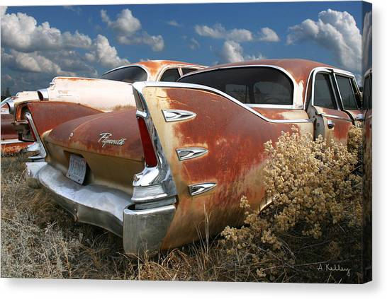 Plymouth Belvedere Canvas Print by Andrea Kelley