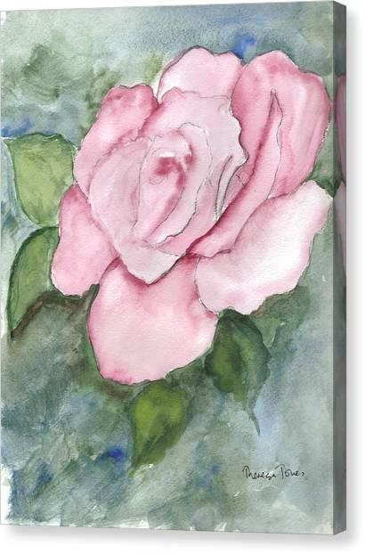 Pnk Rose Canvas Print by Theresa Jones