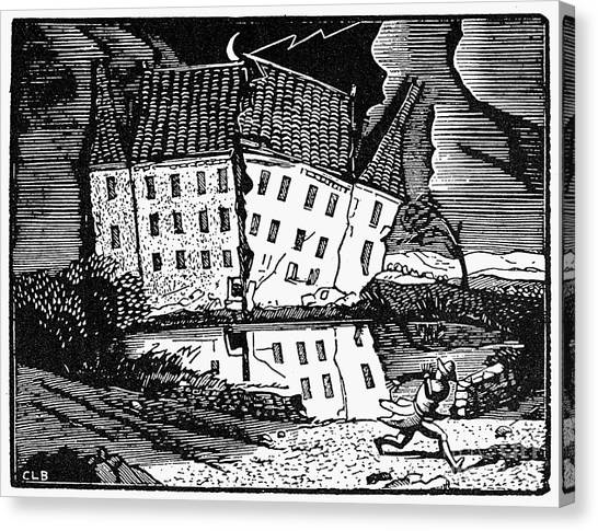 Fall Of The House Of Usher Canvas Print - Poe: House Of Usher by Granger