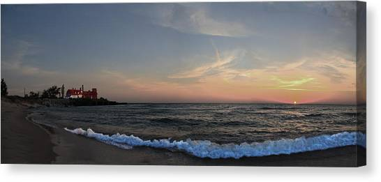 City Sunsets Canvas Print - Point Betsie Sunset by Twenty Two North Photography