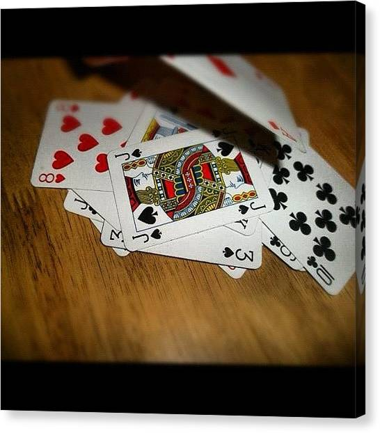 Queens Canvas Print - #pokerface #kings #queens #hearts by Sophie Vien
