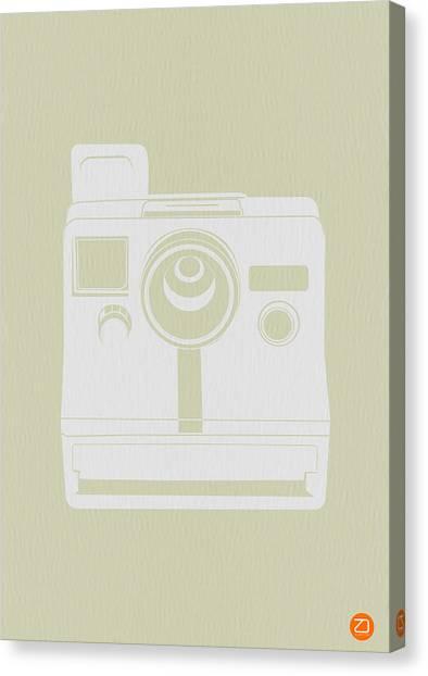 Mid Century Furniture Canvas Print - Polaroid Camera 2 by Naxart Studio