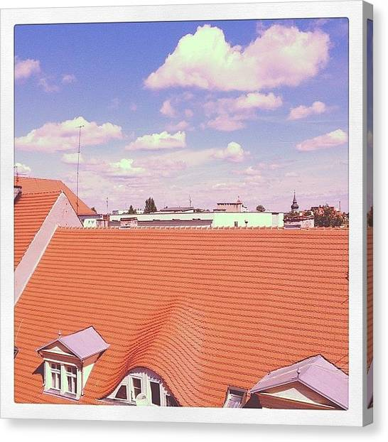 Potato Canvas Print - Polish Clouds. #cloudscience by E Childers