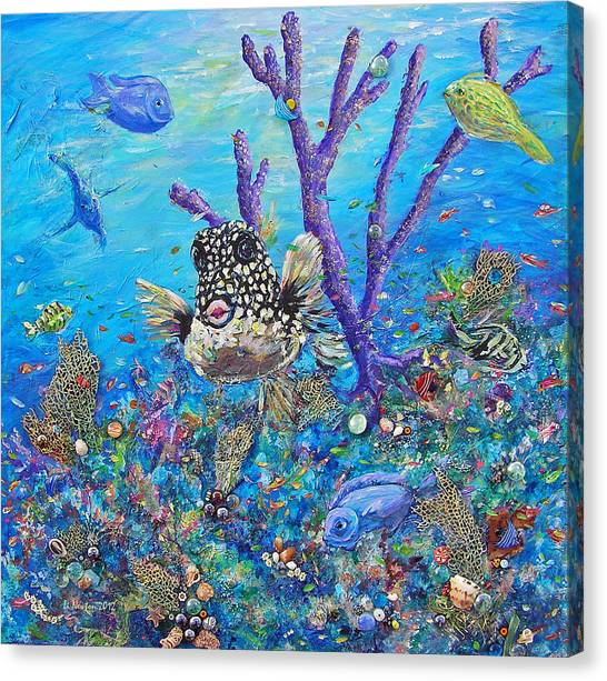 Polka-dot Beauty Canvas Print