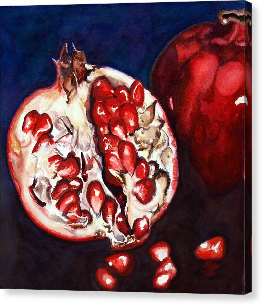 Pomegranate Study Number Two Canvas Print