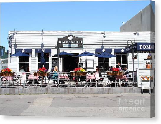 Pompeis Grotto Restaurant . Fishermans Wharf . San Francisco California . 7d14197 Canvas Print by Wingsdomain Art and Photography