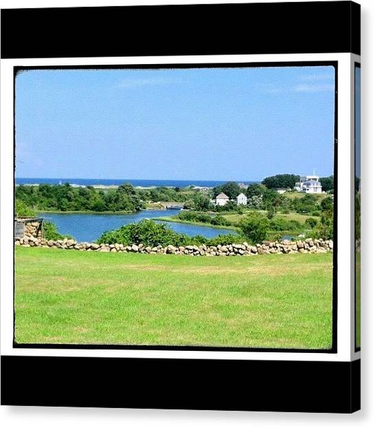 Marshes Canvas Print - Pond At Block Island by Cathy Marsh Photography