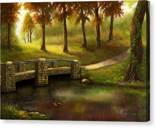 Pond Crossing Canvas Print