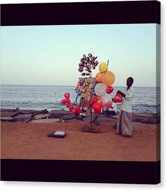 Balloons Canvas Print - #pondicherry #thepromenade #beach by Sahil Gupta