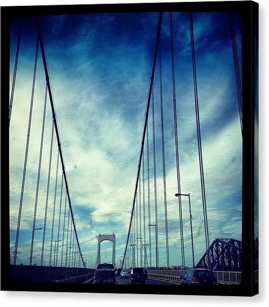 Quebec Canvas Print - Pont Laporte by Isabel Poulin