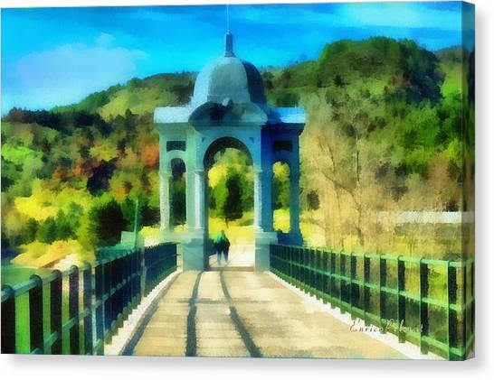 Ponte Sul Lago Di Giacopiane Canvas Print