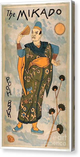 Poo Bah From The Mikado Canvas Print