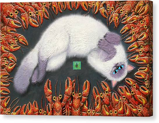 Himalayan Cats Canvas Print - Poobles In Cajunland by Baron Dixon