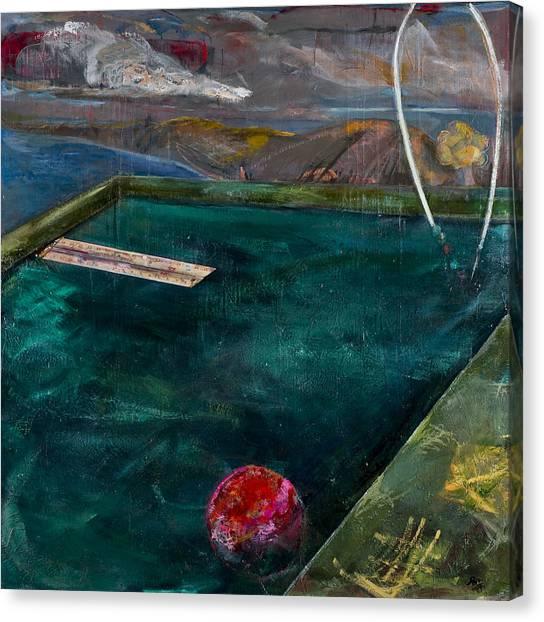 Jasper Johns Canvas Print - Pool by Georgette Osserman