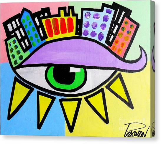 Pop City Eye Canvas Print by John Pescoran