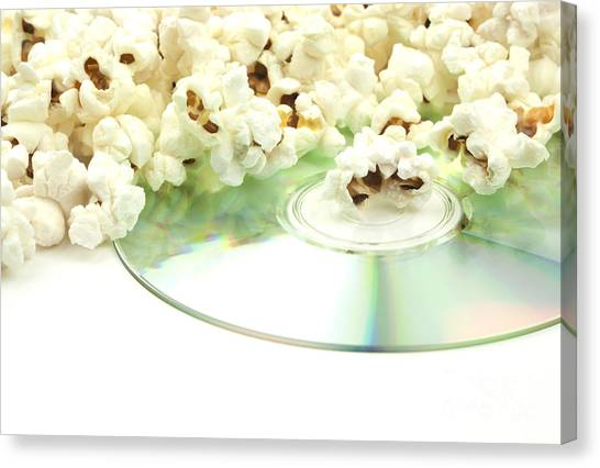 Popcorn Canvas Print - Popcorn And Movie  by Blink Images
