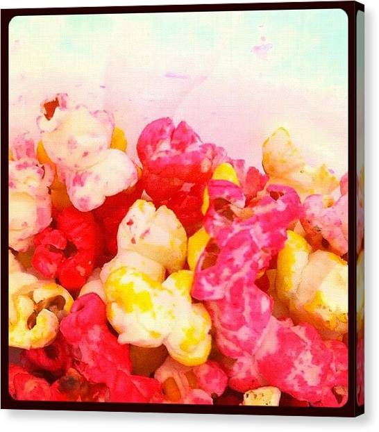 Popcorn Canvas Print - #popcorn #sweet #colors #yummy by Avatar Pics