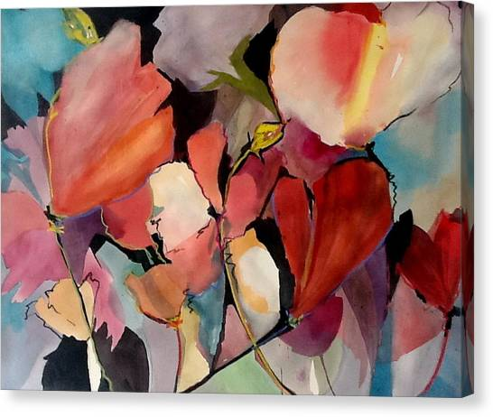 Canvas Print - Poppies In The Wind by Jane Ferguson