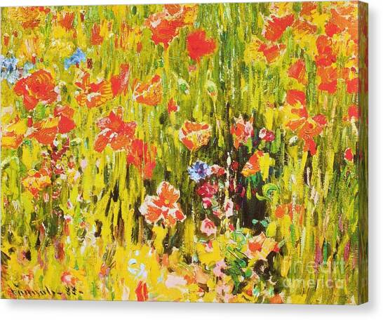 Poppies Canvas Print by Pg Reproductions