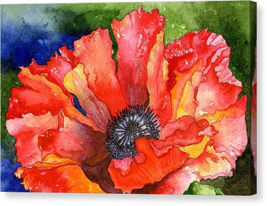 Poppy Canvas Print by Eunice Olson