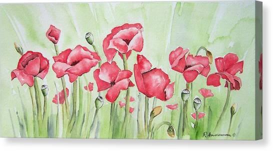 Poppy Field Canvas Print by Regina Ammerman