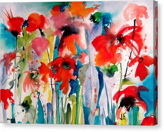 Canvas Print - Poppy Paradise by Jane Ferguson