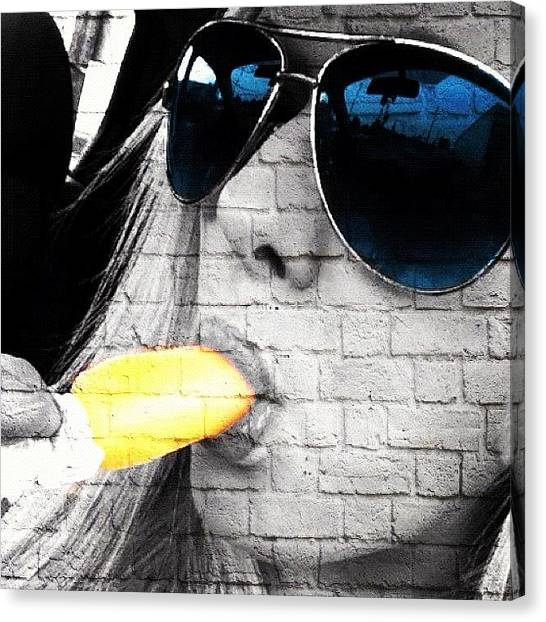 Bananas Canvas Print - #popslice #mayfield #banana #sunglasses by S Smithee