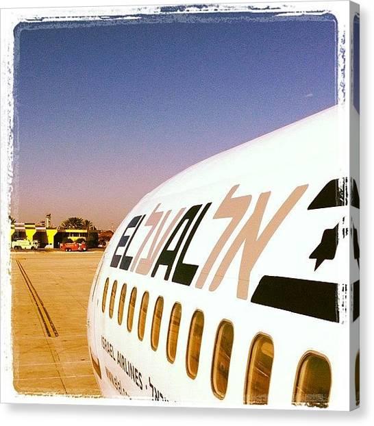 Israeli Canvas Print - #popular #elal #737#aircraft#israel by Asaf S