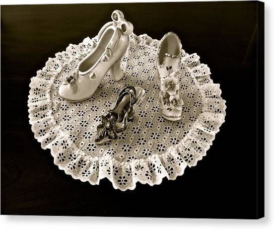Porcelain And Lace Canvas Print