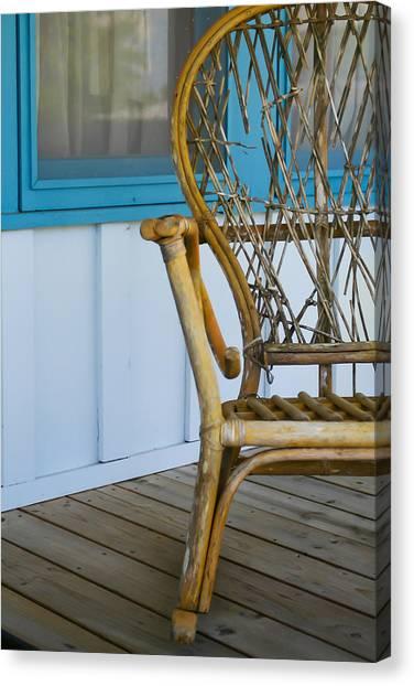 Porch Chair Canvas Print