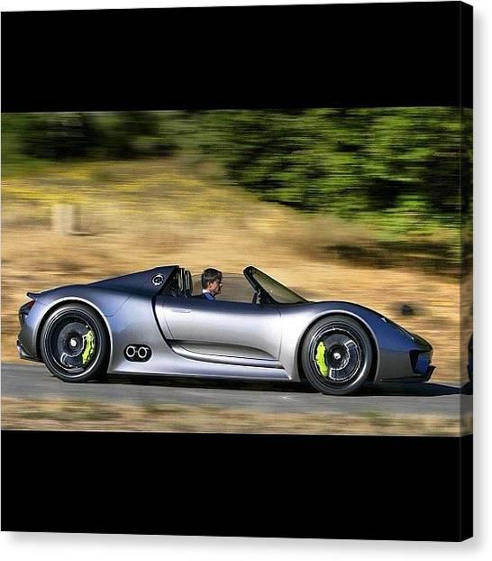 Porsche Canvas Print - #porsche #918 #spyder #porsche918 by Exotic Rides