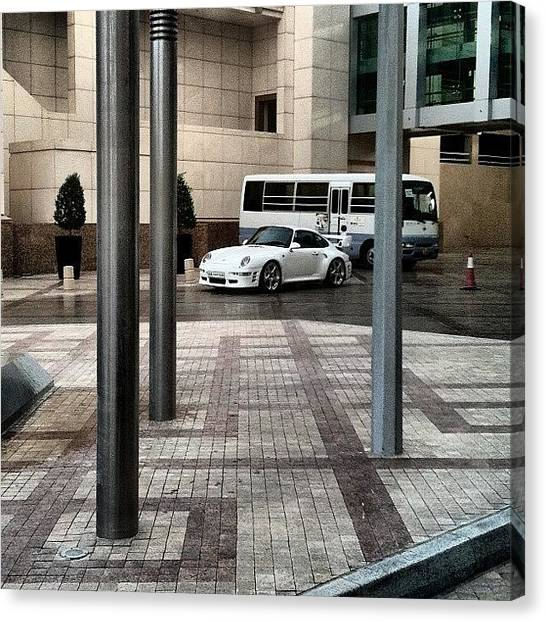 Porsche Canvas Print - #porsche #993 #ruf #turbo #white #cars by Khaleel Alibrahim