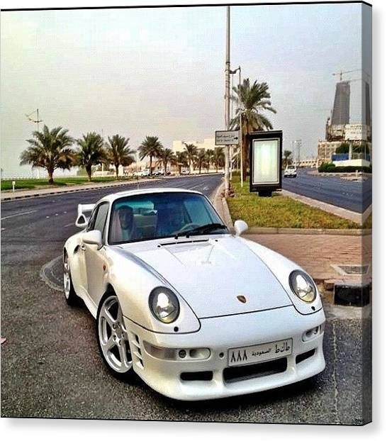 Porsche Canvas Print - #porsche #993 #ruf #turbo #white by Khaleel Alibrahim