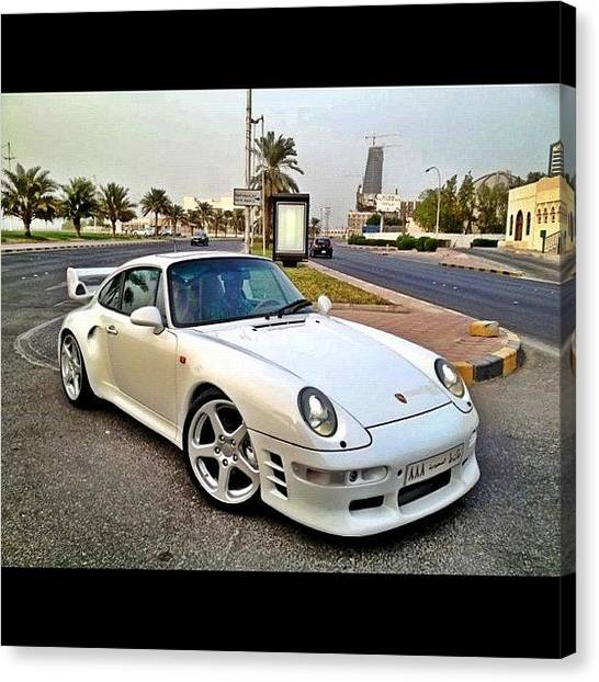 Porsche Canvas Print - #porsche #993 #white #turbo #ruf by Khaleel Alibrahim