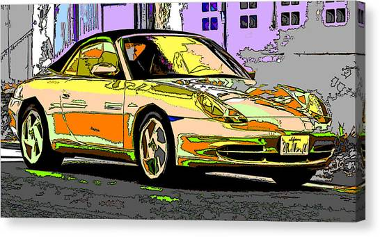 Porsche Carrera Study 4 Canvas Print