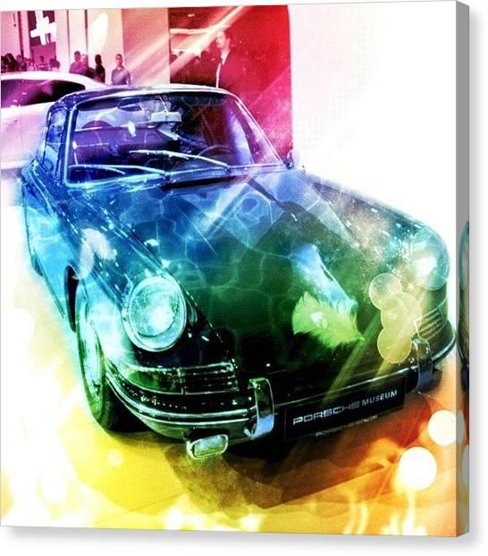 Porsche Canvas Print - Porsche Collage #colormania by Murat Karakas