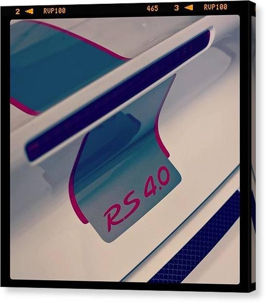 Porsche Canvas Print - #porsche997rs4.0 #porsche997rs by 🅿💀r1⃣©⚠◀ Qu1⃣5⃣p3⃣l