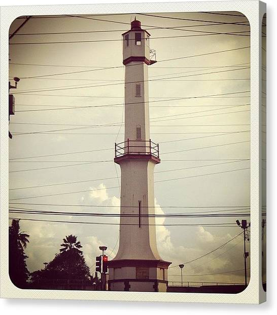 Lighthouses Canvas Print - Port Of Spain Lighthouse In Trinidad by James Roberts