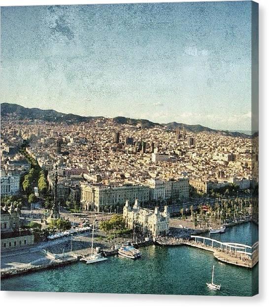 Spain Canvas Print - Port Vell - Ramblas - Barcelona by Joel Lopez