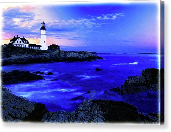 Portland Head Lighthouse Canvas Print by Fred Kirchhoff