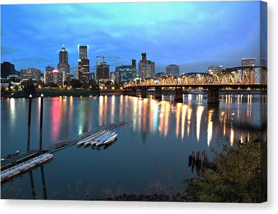 Portland Morning Canvas Print