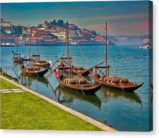 Porto Barges Canvas Print by Scott Massey
