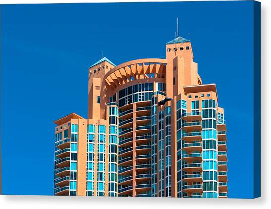 Portofino Tower At Miami Beach Canvas Print