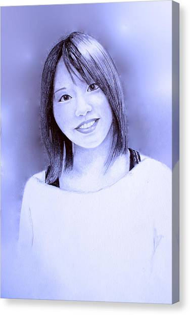 Portrait Of A Japanese Girl Canvas Print